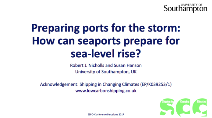rising sea level and ports